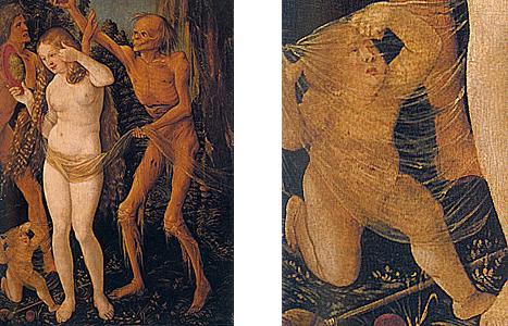 Tres edades de la mujer y la muerte, hacia 1510, Hans Baldung Grien