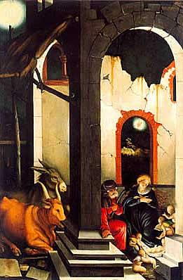 La Natividad, 1520, Hans Baldung Grien, Munich, Alte Pinakothek