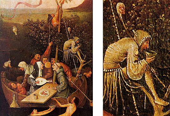 La nave de los locos, hacia 1490, El Bosco, París, museo del Louvre