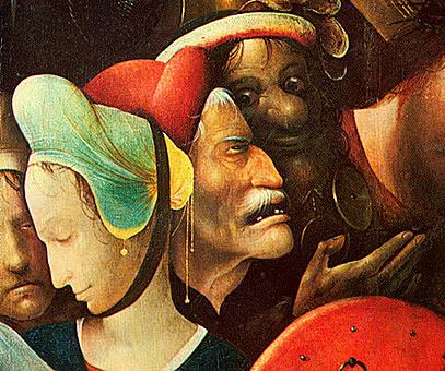 Cristo con la cruz a cuestas, 1515-1516, El Bosco, Gante, Museo de Bellas Artes