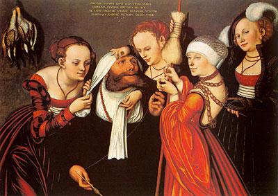 Hércules en la corte de Onfalia 1537, Lucas Cranach el Viejo