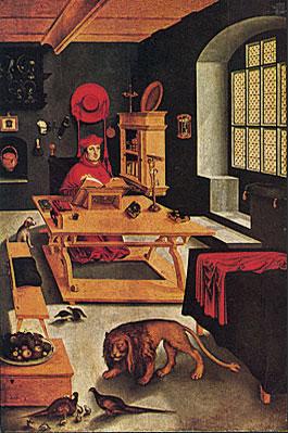 Alberto de Brandeburgo como san Jerónimo, hacia 1520, Lucas Cranach