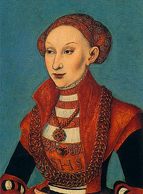 Sibila princesa de Cleves, 1531, Lucas Cranach el Viejo
