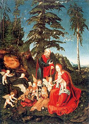 Descanso en la huída a Egipto, 1504, Lucas Cranach el Viejo