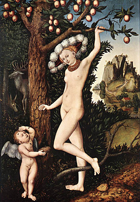 Cupido quejándose ante Venus, 1530, Lucas Cranach el Viejo