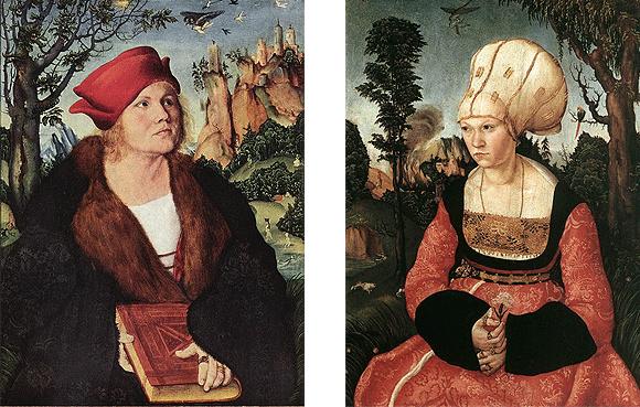 Johannes Cuspinian y su esposa Ana, 1502, Lucas Cranach el Viejo