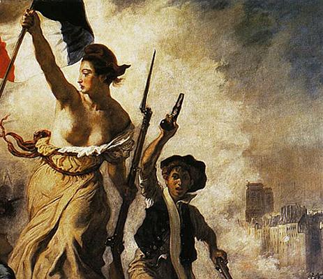 La Liberte Guidant Le Peuple Detail Eugene Delacroix