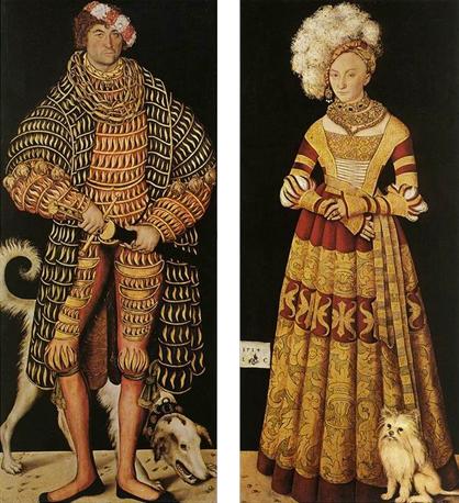 El duque Enrique el Piadoso y la duquesa Catalina, 1514, Lucas Cranach el Viejo, Dresde, Gemäldegalerie