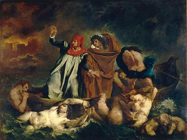 La Barque de Dante, 1822, Eugène Delacroix, Paris, musée du Louvre.